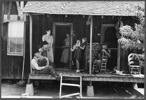 Sharecroppers on porch, Missouri, 1938 (Russell Lee)