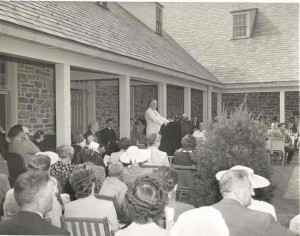 FDR at the opening of his library in Hyde Park, June 30, 1941.